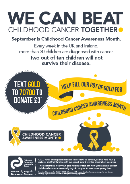 campaign poster - childhood cancer awareness month