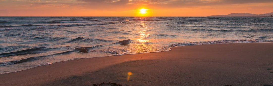 health and fitness tips blog - sunset on a beach