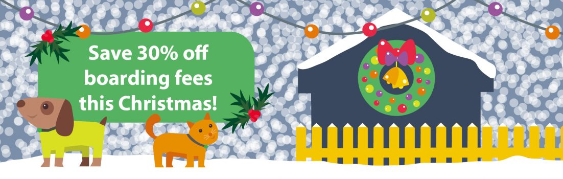 Save 30% on kennel and cattery boarding fees this Christmas