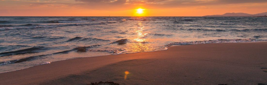 sunset at the beach - self care week blog