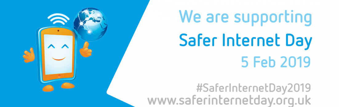 internet safety blue banner image